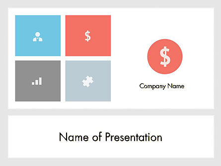 minimalist financial presentation powerpoint template, backgrounds, Presentation templates