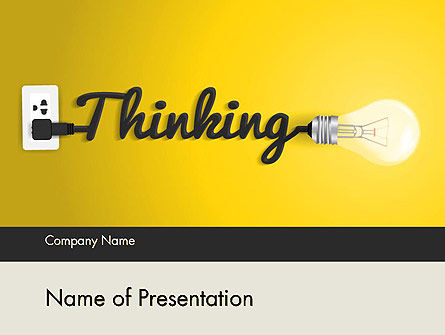 Business Concepts: Thinking Concept PowerPoint Template #12145