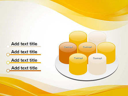 Yellow Blurry Waves and Curved Lines PowerPoint Template Slide 12