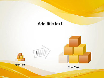 Yellow Blurry Waves and Curved Lines PowerPoint Template Slide 13