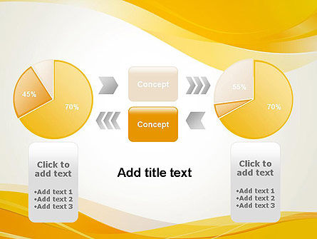 Yellow Blurry Waves and Curved Lines PowerPoint Template Slide 16
