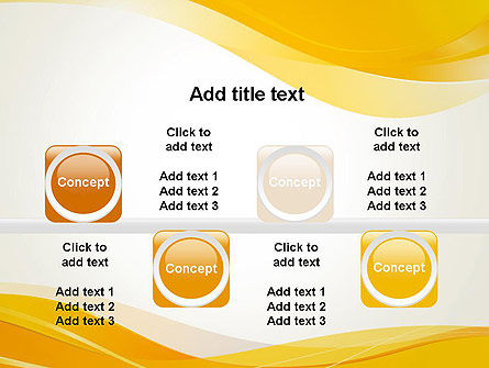 Yellow Blurry Waves and Curved Lines PowerPoint Template Slide 18