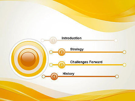 Yellow Blurry Waves and Curved Lines PowerPoint Template Slide 3