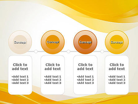 Yellow Blurry Waves and Curved Lines PowerPoint Template Slide 5