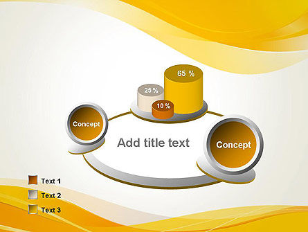 Yellow Blurry Waves and Curved Lines PowerPoint Template Slide 6
