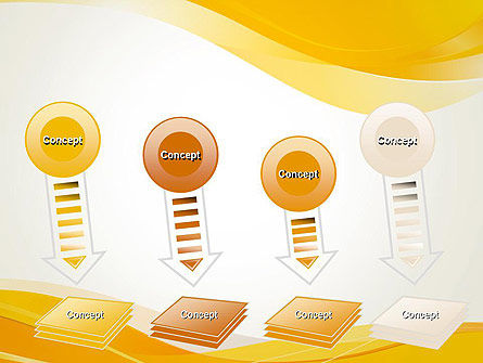 Yellow Blurry Waves and Curved Lines PowerPoint Template Slide 8