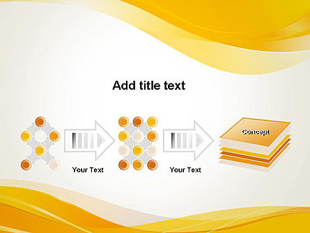 Yellow Blurry Waves and Curved Lines PowerPoint Template Slide 9
