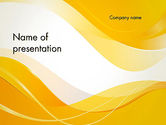 Abstract/Textures: Yellow Blurry Waves and Curved Lines PowerPoint Template #12147