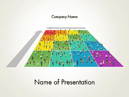 Business People Over Chart PowerPoint Template