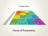 Careers/Industry: Business People Over Chart PowerPoint Template #12155
