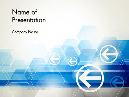 Gray Blue Business Background PowerPoint Template