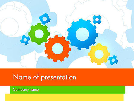 Cogwheels Colorful Theme PowerPoint Template, 12160, Abstract/Textures — PoweredTemplate.com