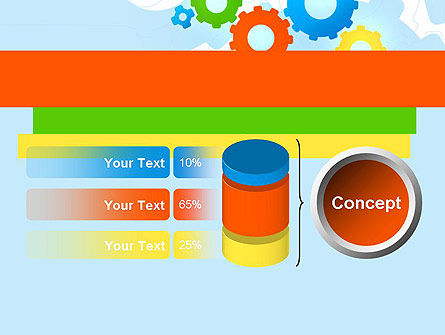 Cogwheels Colorful Theme PowerPoint Template Slide 11