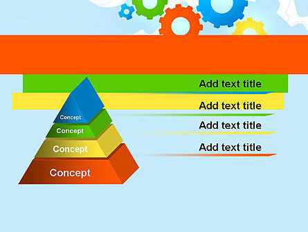 Cogwheels Colorful Theme PowerPoint Template Slide 12