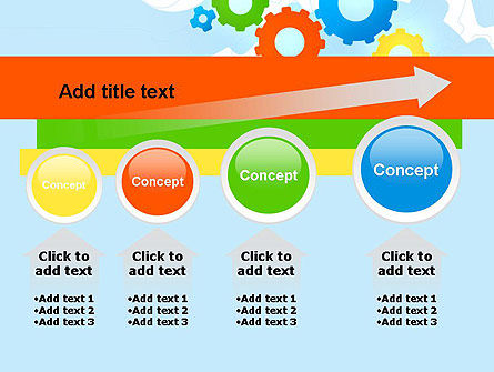 Cogwheels Colorful Theme PowerPoint Template Slide 13