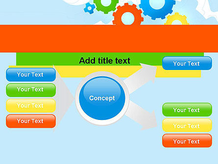 Cogwheels Colorful Theme PowerPoint Template Slide 14