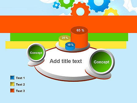 Cogwheels Colorful Theme PowerPoint Template Slide 16