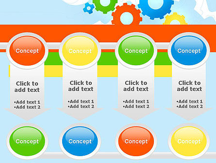 Cogwheels Colorful Theme PowerPoint Template Slide 18