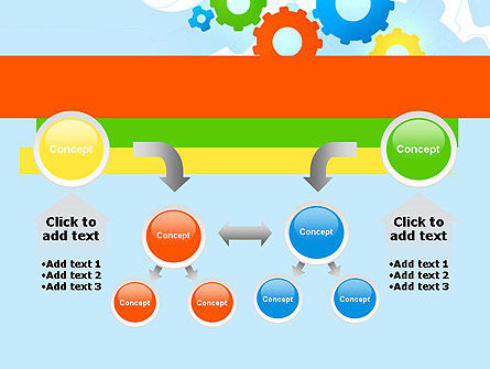 Cogwheels Colorful Theme PowerPoint Template Slide 19