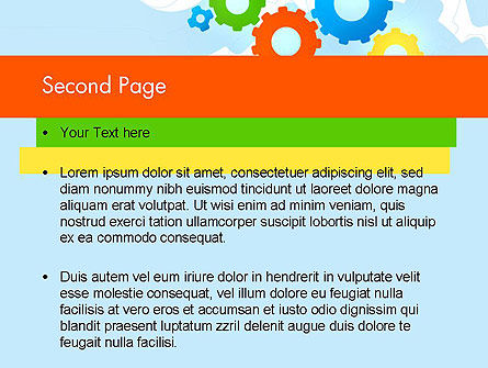 Cogwheels Colorful Theme PowerPoint Template Slide 2