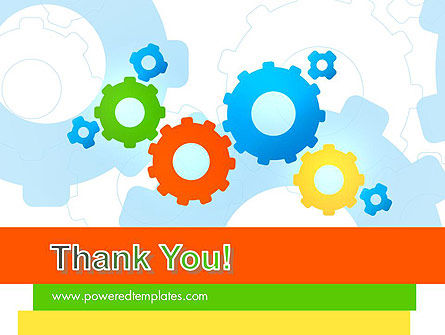Cogwheels Colorful Theme PowerPoint Template Slide 20