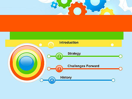 Cogwheels Colorful Theme PowerPoint Template Slide 3