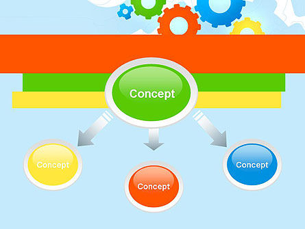 Cogwheels Colorful Theme PowerPoint Template, Slide 4, 12160, Abstract/Textures — PoweredTemplate.com
