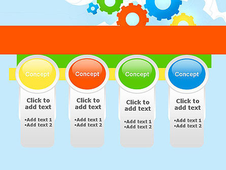 Cogwheels Colorful Theme PowerPoint Template Slide 5