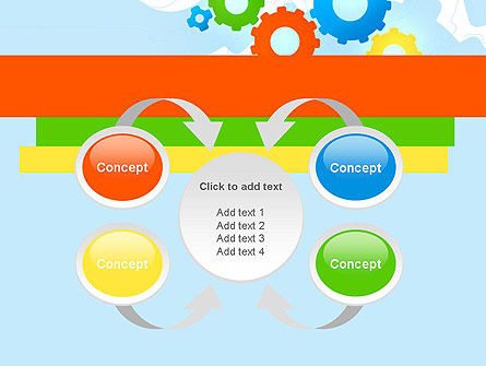 Cogwheels Colorful Theme PowerPoint Template Slide 6