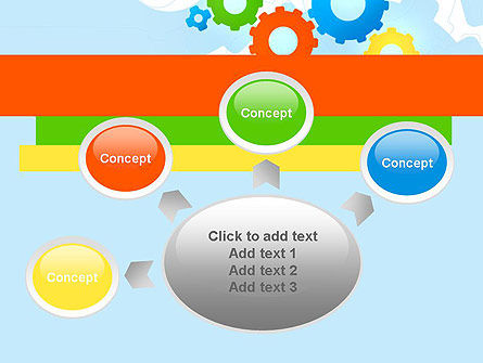 Cogwheels Colorful Theme PowerPoint Template Slide 7