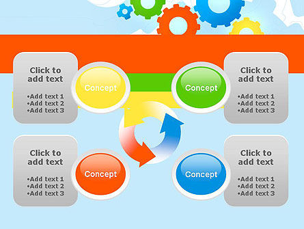 Cogwheels Colorful Theme PowerPoint Template Slide 9