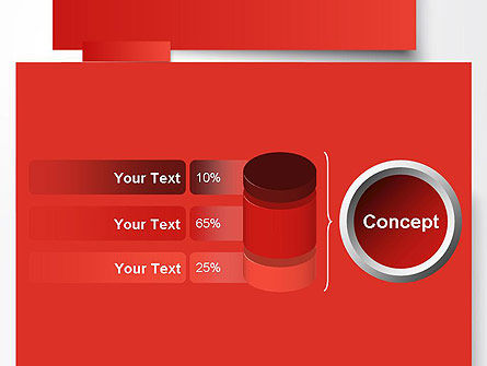 Cut Strips of Red Paper PowerPoint Template Slide 11