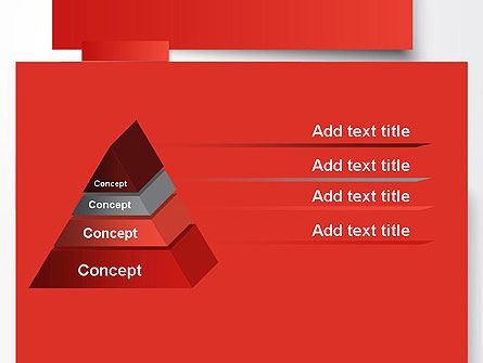 Cut Strips of Red Paper PowerPoint Template Slide 12