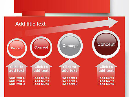 Cut Strips of Red Paper PowerPoint Template Slide 13
