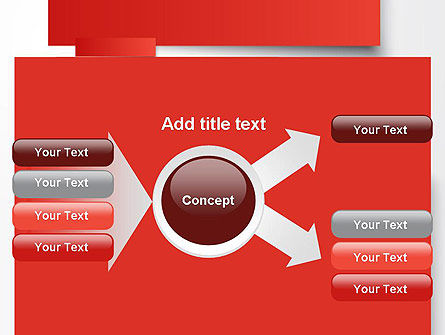 Cut Strips of Red Paper PowerPoint Template Slide 14