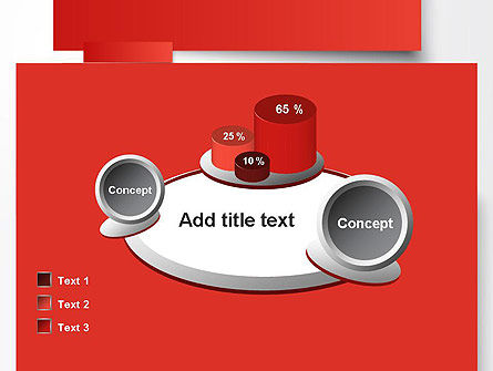 Cut Strips of Red Paper PowerPoint Template Slide 16