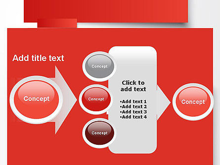 Cut Strips of Red Paper PowerPoint Template Slide 17