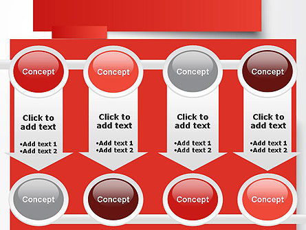 Cut Strips of Red Paper PowerPoint Template Slide 18