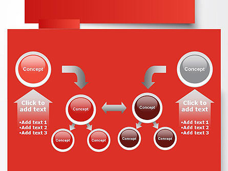 Cut Strips of Red Paper PowerPoint Template Slide 19