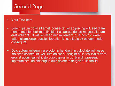 Cut Strips of Red Paper PowerPoint Template, Slide 2, 12162, Business Concepts — PoweredTemplate.com