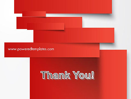 Cut Strips of Red Paper PowerPoint Template Slide 20