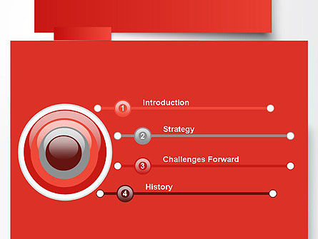 Cut Strips of Red Paper PowerPoint Template Slide 3