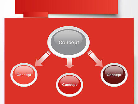 Cut Strips of Red Paper PowerPoint Template, Slide 4, 12162, Business Concepts — PoweredTemplate.com