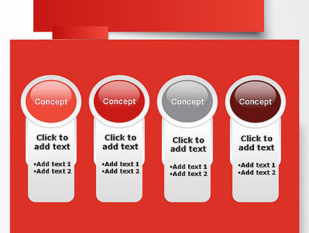 Cut Strips of Red Paper PowerPoint Template Slide 5
