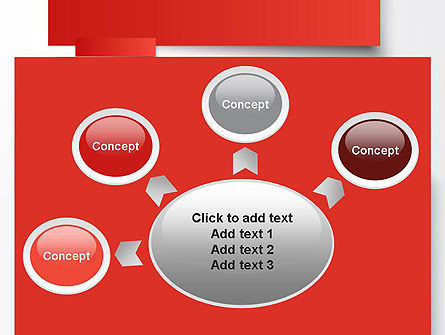 Cut Strips of Red Paper PowerPoint Template Slide 7
