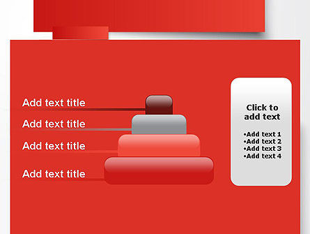 Cut Strips of Red Paper PowerPoint Template Slide 8