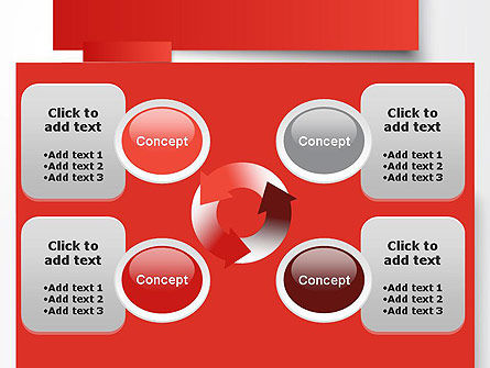 Cut Strips of Red Paper PowerPoint Template Slide 9