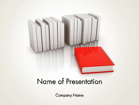 Books Development PowerPoint Template., 12166, Careers/Industry — PoweredTemplate.com