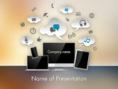 Careers/Industry: Media Content PowerPoint Template #12167