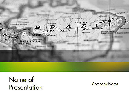Map of Brazil PowerPoint Template